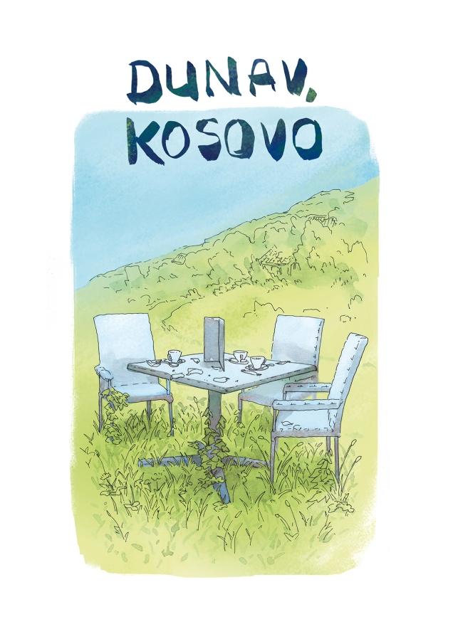 reportage bande dessinée sur le kosovo et l'immigration des jeunes.