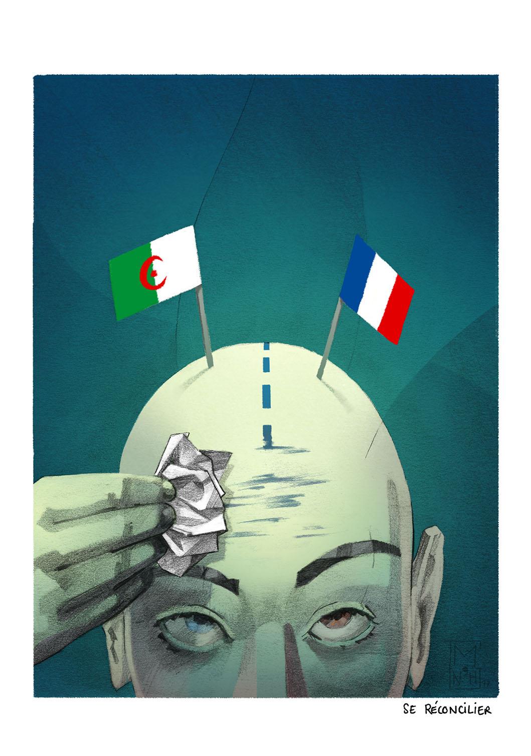illustration symbolique traîtant d'identité, immigration.  Illustration sociologique, politique et philosophique.