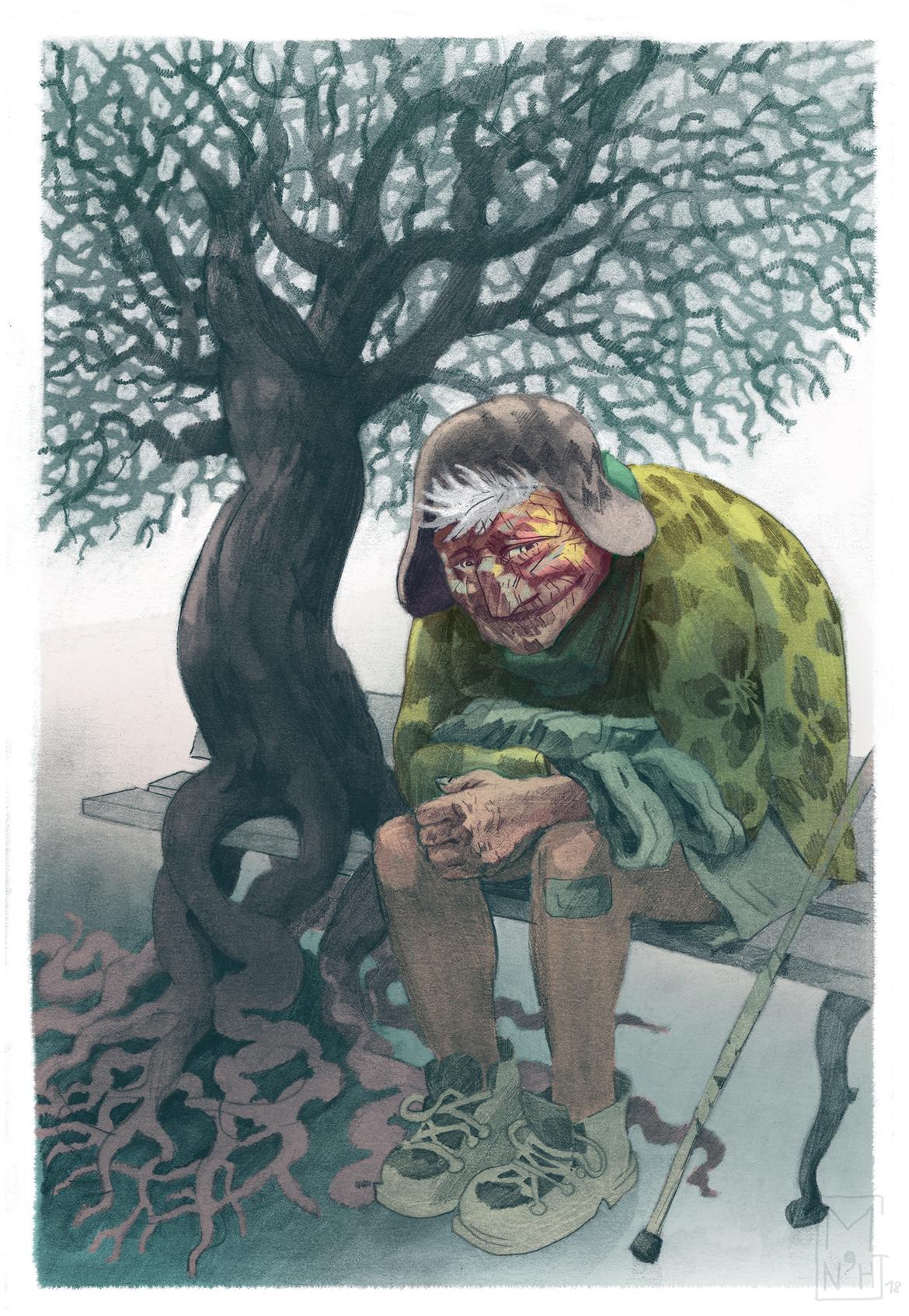 illustration au crayon et couleurs digitales, propice à la conception de visuels pour le jeu de plateau, entre autre.  Caracter design, conception personnages.