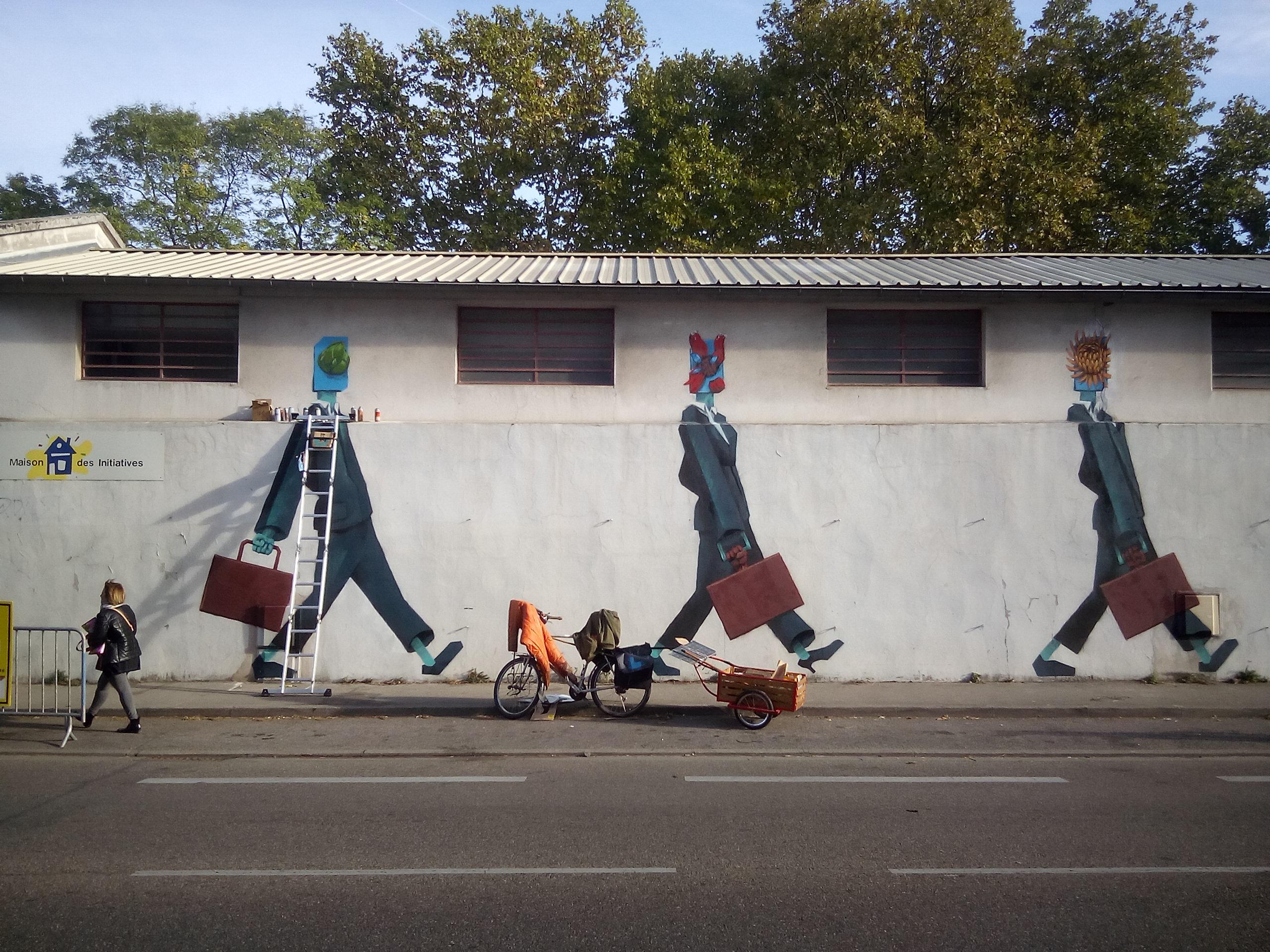 Peinture Murale symboliste, street art.